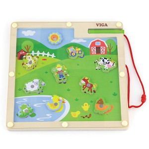 Viga Toys - Magnetic match & trace - farm