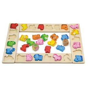 Viga Toys - Animals party game - 42 pcs.