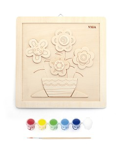 Viga Toys - Painting set - flowers