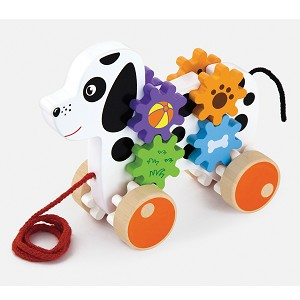 Viga Toys - Pull-along - dog with gears