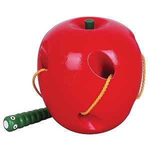 Viga Toys - Threading apple & caterpillar