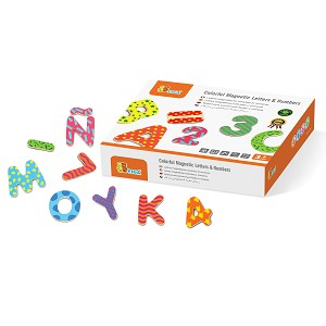 Viga Toys -  Magnetic letters & numbers 77 pcs.