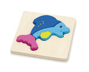 Viga Toys - Handy block puzzle - fish