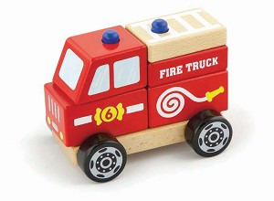 Viga Toys - Stacking fire truck