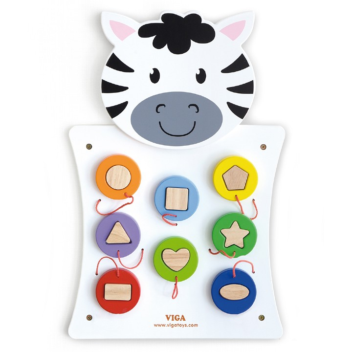 Viga Toys - Wall Game - Match Shapes - Zebra