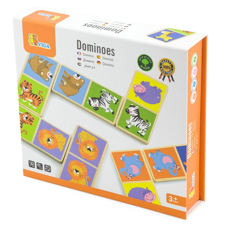 Viga Toys - Domino - Wild Animals