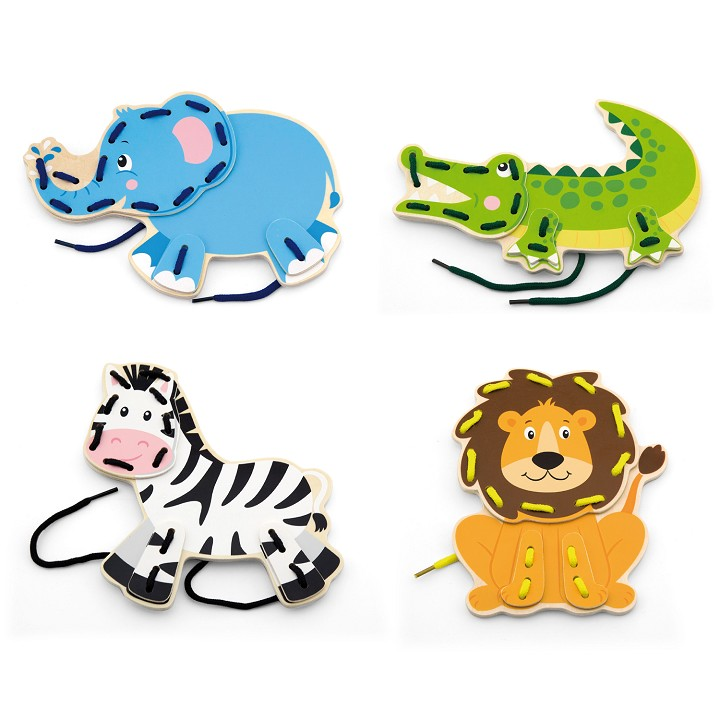 Viga Toys - Lacing Wild Animals