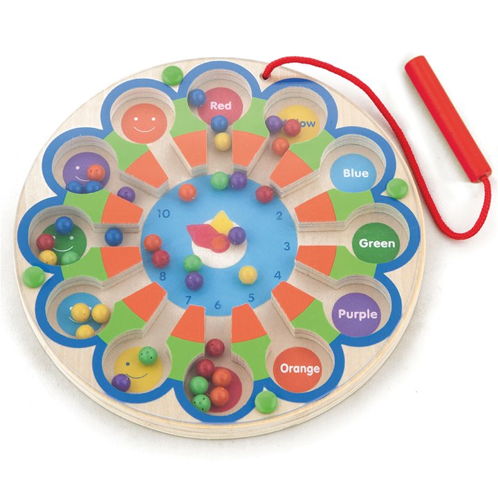 Viga Toys - Magnetic bead trace - clock