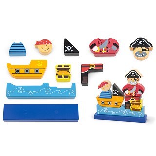 Viga Toys - Magnetic 3D Puzzle - Pirate