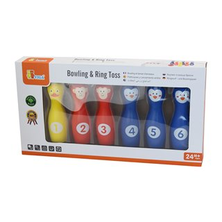 Viga Toys - Bowling and Ring Toss Game