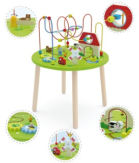 Viga Toys - Activity Table - Rollercoaster