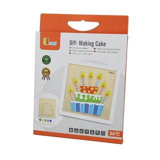 Viga Toys - Painting Set - Birthday Cake