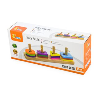 Viga Toys - Creative Shapes Stacking Board