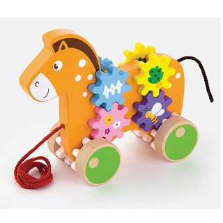 Viga Toys - Pull-Along - Horse with Gears