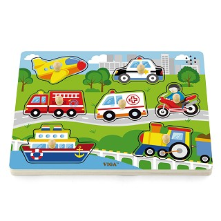 Viga Toys - Sound puzzle - vehicles