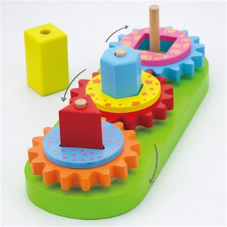 Viga Toys - Stacking Geometrics Blocks with Gears