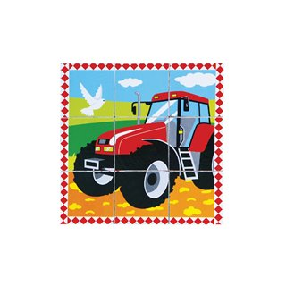 Viga Toys - Cube Puzzle - Farm - 9 pieces