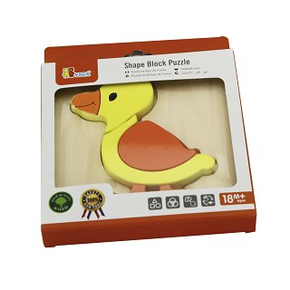 Viga Toys - Handy Block Puzzle - Duck