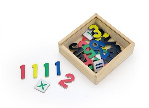 Viga Toys - Magnetic numbers - 37 pcs.