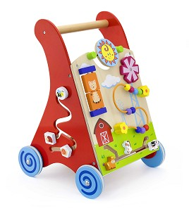 Viga Toys - Activity baby walker - red