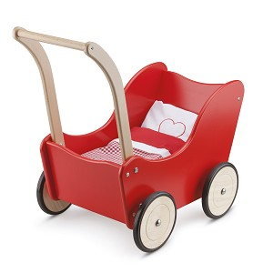 New Classic Toys - Doll Pram with Bedding - Red